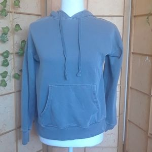 American Eagle blue hoodie with front pouch sz s